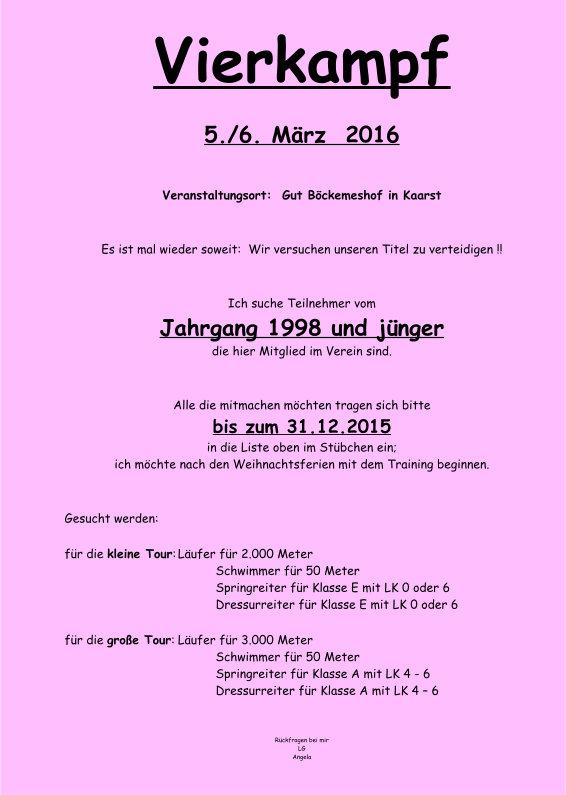 Anmeldung Vierkampf 2016