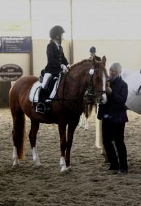 Reiterprüfung 2. Abteilung: Siegerehrung der Zweitplatzierten
