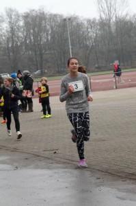Katja Oellers auf der Zielgeraden